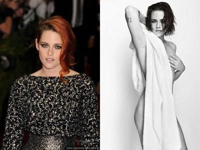 暮光女克莉絲汀史都華披浴巾全裸拍照 溼髮媚眼翹臀現形
