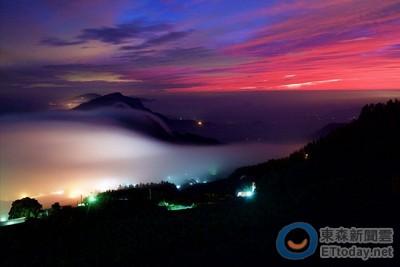 火燒雲海染紅阿里山1小時!