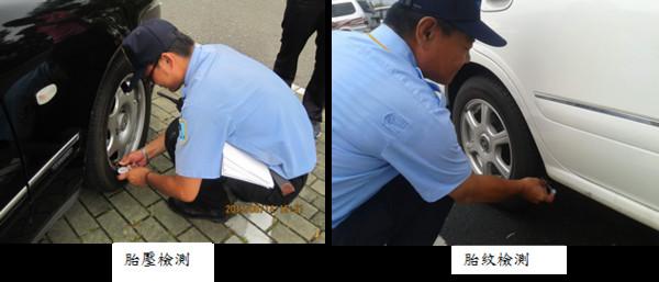 輪胎胎紋胎壓檢測。(圖/高公局提供)