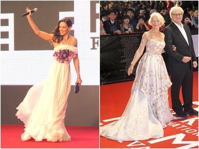希拉蕊史旺現身東京影展 海倫米蘭走紅毯像女王出巡!