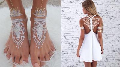 高貴純潔質感UP+ 靈感來自Henna的白色彩繪
