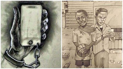 14張社會真相插畫,手機究竟帶給我們快樂或悲哀?