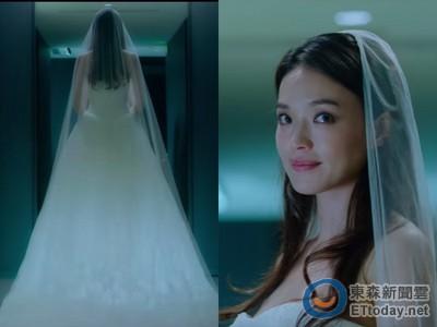 影/舒淇戲裡披白婚紗 哭紅眼問彭于晏:你會娶我嗎?