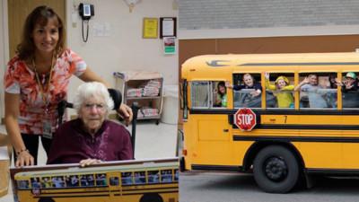 愛招手「窗戶奶奶」突然消失,整車學生喪失上學動力