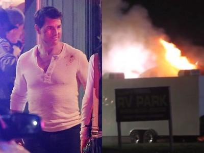 湯姆克魯斯拍片遇火災! 人在車上休息驚見濃煙衝天