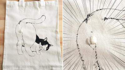 回眸喵立體購物袋..ω 的設計光觸感就滿分啊!