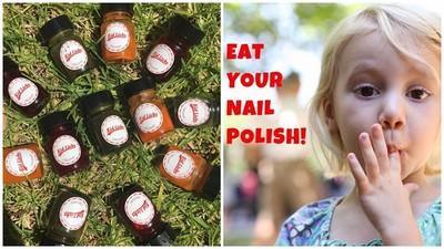 世界首罐可食用指甲油,別不小心塗上吐司啦