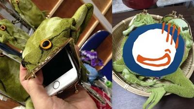 極.真實青蛙手機套,不要把內臟翻出來啊இдஇ