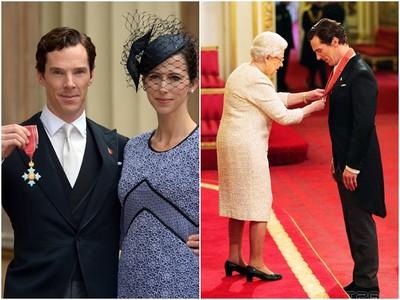 班奈狄克獲頒CBE勳章 當場和英國女皇聊《福爾摩斯》