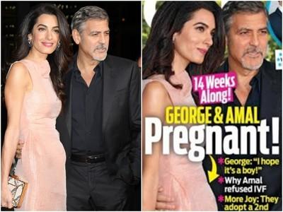 喬治克隆尼要當爸了? 愛妻小腹微凸傳懷孕14週啦!