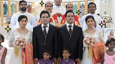 新郎兄弟要求雙胞胎老婆&花童,呃..連牧師也不放過