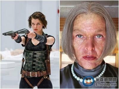《惡靈古堡》結局曝光? 蜜拉喬娃薇琪公開皺紋老妝照