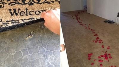 找水電工到府,人不在家灑玫瑰花瓣指路...沒問題嗎?