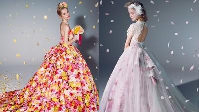 蜷川實花華麗麗婚紗,粉嫩露背款美到讓姐想婚❤