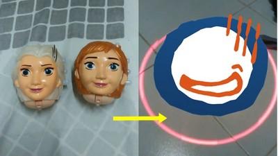 冰雪奇緣山寨玩具 原來艾莎的頭是神曲播放器?
