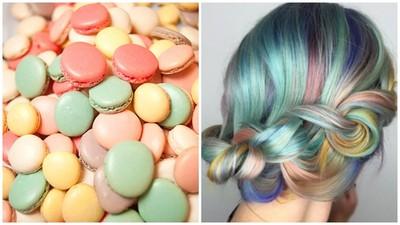 最新流行「馬卡龍髮色」,繽紛、夢幻、好吃一次滿足