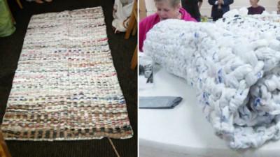 1000個塑膠袋破壞地球?他們用溫暖雙手編織遊民床