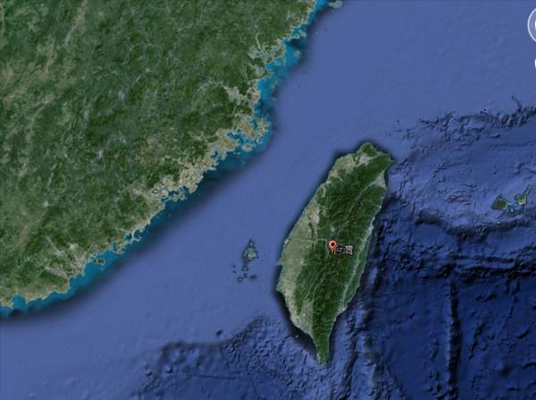 台灣,台灣地圖。(圖/翻攝自Google地球)