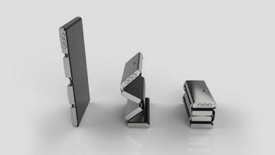 摺疊手機&智慧手機合體!看手機折成像瑞士刀~