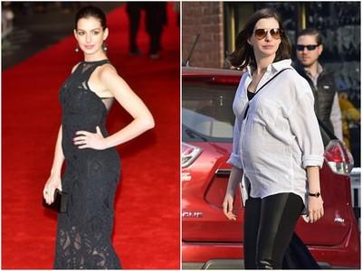安海瑟薇挺5月身孕逛街 笑摸凸肚大曬媽媽樣
