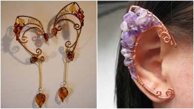 歐美超瘋!鋁線製作夢幻妖精耳飾,實現女孩的妖精夢