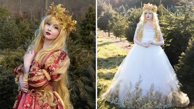 天才美少女製作手工蓬蓬裙,根本是電影裡的公主嘛