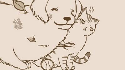 傲嬌貓使計趕走大笨狗...怎麼覺得安靜久了有點寂寞QQ