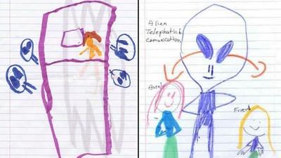 被綁架的小孩畫「兇手」,拐走他們的是..外星人(°Д°?