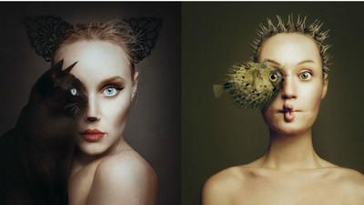 「你是我的眼」 攝影師跨物種結合詮釋完美臉龐