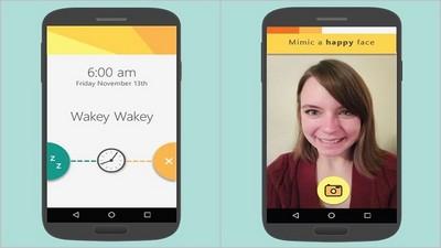 Android推「模仿鬧鐘」,要自拍特定表情才能關閉