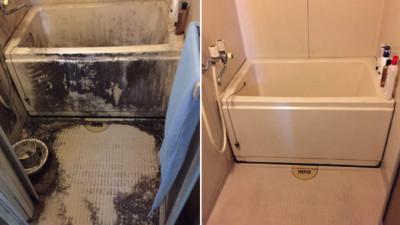 朋友請推特主幫忙打掃浴室,黑→白是怎麼辦到的@@