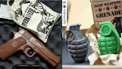 超夯武器巧克力 情人節就送一把槍轟掉他腦袋吧(?)