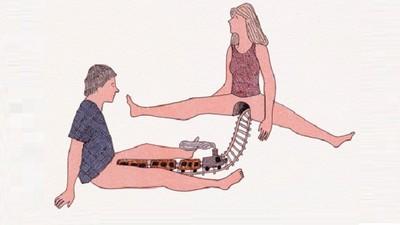 開腿過山洞,插畫家露骨詮釋男女愛、恨、慾