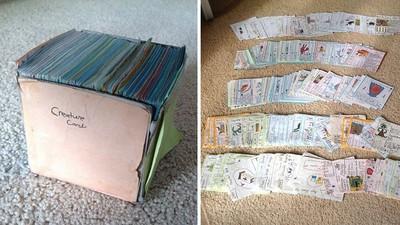 因為太窮小兄弟手製卡牌,裡面裝著滿滿童真