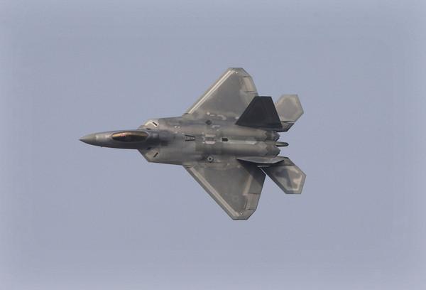 美軍F-22戰鬥機。(圖/達志影像/美聯社)