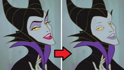 卸妝後的迪士尼反派,黑魔女完全就是紫臉喪屍呀