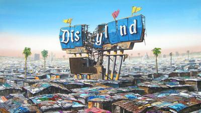 控訴貧窮與不公 藝術家畫出失落迪士尼樂園