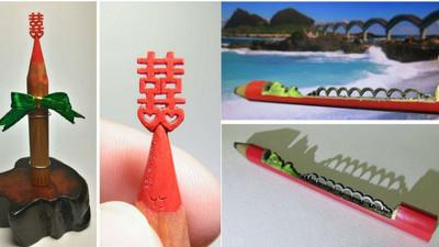 世界之最!0.5毫米的筆尖藝術…這次作者來自台灣