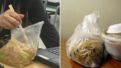 台灣常見「塑膠袋裝便當」,日本人眼裡竟像嘔吐物