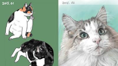 教媽媽畫CG圖,一年後...這位太太畫技超進化啦!