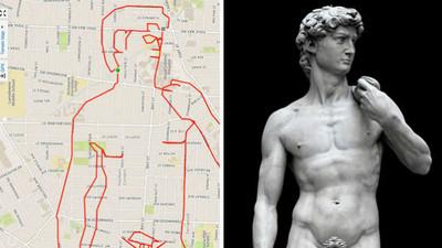 用GPS當畫筆完成塗鴉夢!呃..可是大衛的雞雞被畫小惹