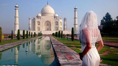 離婚女穿婚紗環遊世界…一路上還真有人跟她求婚