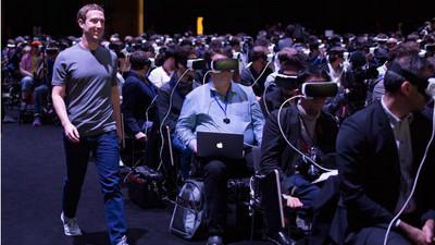 FB創辦人祖克伯虛擬實境秀 網:看見人類被科技奴役