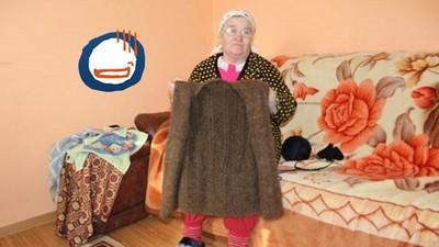 老奶奶手織背心,材料是...她存20年的頭髮(°Д°)