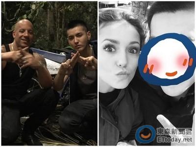 吳亦凡親貼《吸血鬼》妮娜杜波夫 放送眨眼「揪咪」