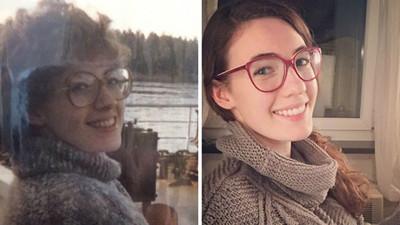兒女與父母年輕時的照片比一比…確定不是同一人?