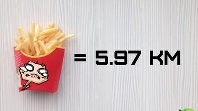 「跑跑熱量表」看了就怕 餅乾=跑1km,薯條=6km
