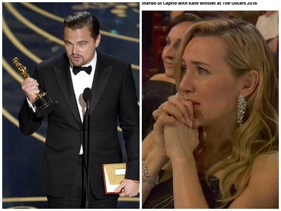 李奧納多陪榜22年終獲奧斯卡 凱特溫絲蕾落淚哭了!