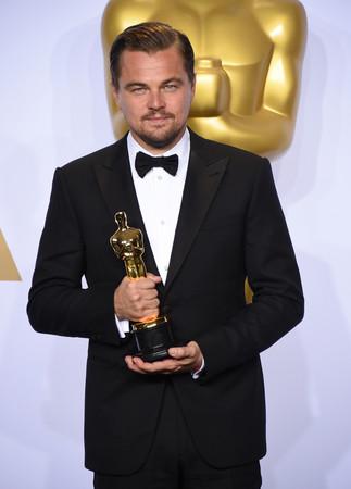第88屆奧斯卡最佳男主角《神鬼獵人》李奧納多。(圖/達志影像/美聯社)