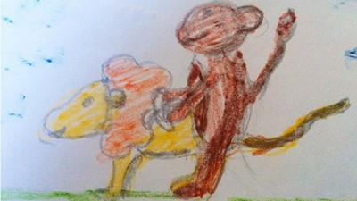 屁孩畫作比你還污!獅子跟猴子是在啪嗎..◎_◎